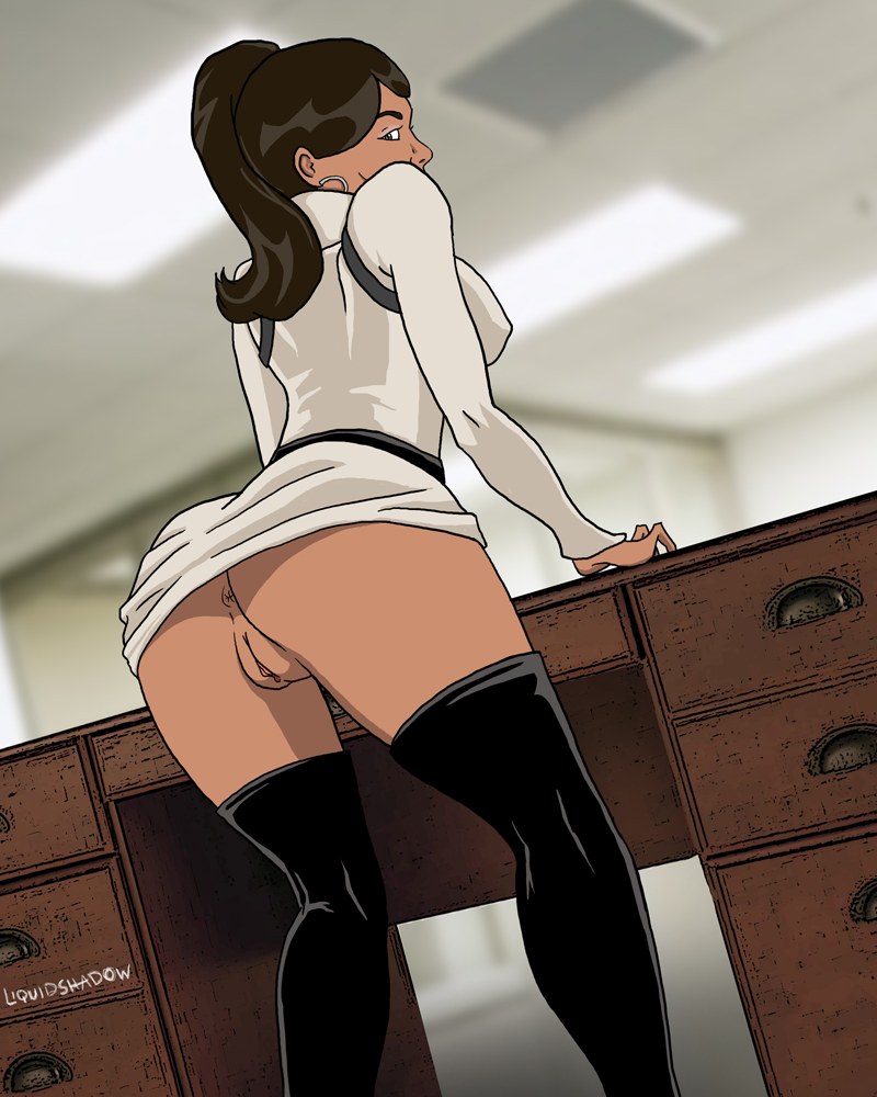 Bent Over Desk